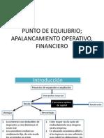 ANÁLISIS DEL PUNTO DE EQUILIBRIO