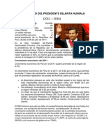 Gobierno Del Presidente Ollanta Humala Taso