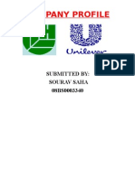 HUL Profile..i have tried my level best to prepare Hindustan Unilever ltd. company profile..by sourav saha
