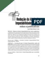 redução da idade de imputabilidade penal_mitos e justificativas
