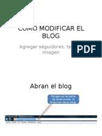 Como Modificar El Blog