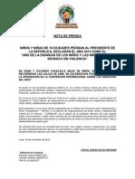 2da Nota de Prensa - Pasacalle - Nov 2013