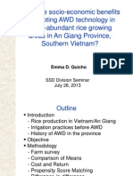 Are there socio-economic benefits of adopting AWD in water-abundant rice areas in An Giang Province, Vietnam?