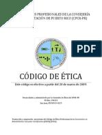 Código de Ética de Colegio de los Profesionales de la Consejería en Rehabilitación (2009)