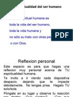 3. La Espiritualidad Del Ser Humano y Mi Respuesta