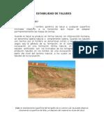 Estabilidad de Taludes - Informe