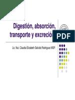 Digestión, absorción, transporte y excreción1