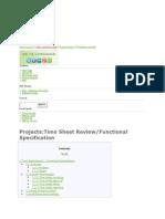 Time sheet management functional improvements