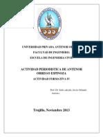 Actividad Periodistica de Antenor Orrego Espinoza