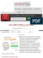How Ibps Tws is Calculated Ht