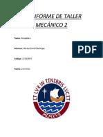 2do INFORME DE TALLER MECÁNICO 2
