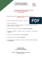 calendario 2° semestre 2013