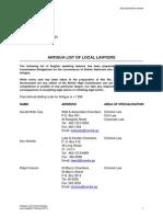 Antigua Lawyers Translators