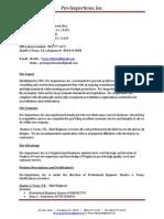 pro inspections bio web site 2013 original