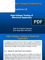 Lecture#15 Testing of Electrical Equipment Advance H v Engg.