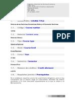 Programa Historia de las Doctrinas Económicas - Tesis