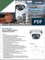 Avtron Varifocal Vandal Dome Camera AM-H5465-VMR1