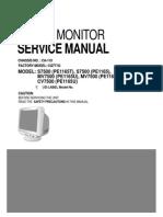 Service Manual - Compaq, LG Monitor - CQ771G, S7500, MV7500, CV7500 - Chassis CA-110