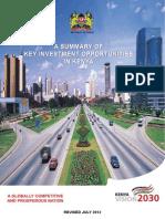 Kenya Vision 2030; Second Medium Term Plan ( 2013-2017)  2) a Summary of Key Investment Opportunities in Kenya
