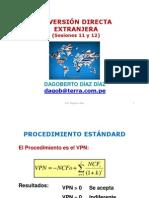 11_12_FI Inversión Directa Extranjera Sesiones 11 y 12 2013