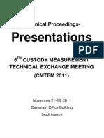 CMTEM2011 Presentations