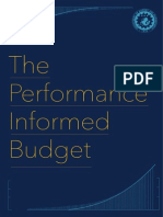 Performance Informed Budgeting - Brochure