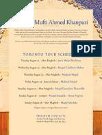 Mufti Khanpuri 2012 Schedule