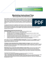 MaximizingInstructionalTime Advisory