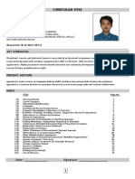 curriculum vitae of Dr. Ankur Barua