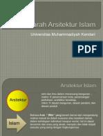 1 - Sejarah Arsitektur Islam