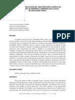 ARTIGO - EDUCACAO FISICA ESCOLAR-UMA REFLEXÃO ACERCA DA PARTICIPAÇÃO DE MENINOS E MENINAS NAS AULAS DE EDUCAÇÃO FÍSICA