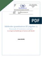 S3_Algebre I (Polycopie Des Exercices)