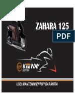 Manual de Usuario kEEWAY Zahara 125