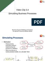 3.4 Simulating Business Processes