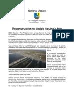 Reconstruction to Decide Fate of Aquino