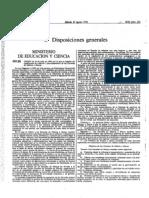 Orden 1992 que regula las escuelas de música