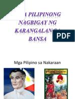 Mga Pilipinong Nagbigay Ng Karangalan Sa Bansa