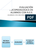 Evaluación Psicopedagógica y los ACNEEs - Veronica Soudant