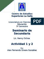Actividad 1y2 Seminario de Secundaria
