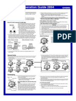 Casio Manual, Operation guide 2894