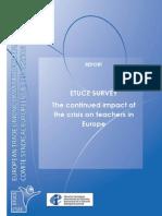 El Impacto de La Crisis en Los Profesores Europeos