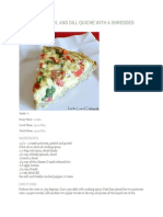 TOMATO Spinach Dill Quiche With Shredded Potato Crust