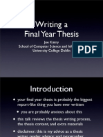 Writing a Thesis FYP08