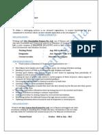 Alok Mishra - Asst. Manager - Sales & Marketing - 3 Yrs 0 Month (2)