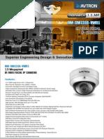 Avtron IR Vari Focal Ip Dome Camera Am Sm1316 Vmr1 PDF