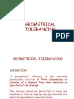Geometrical Tolerancing (GD&T)