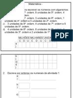 Atividades sobre Sistema de Numeração Decimal.doc