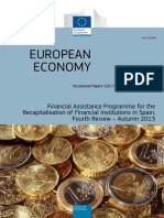 Financial Assistance Program for the Recapitalization of Financial Institutions in Spain. Fourth Review – Autumn 2013.