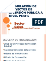 Proyecto de Inversion en El Sector Salud I