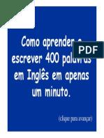 ++++++ COMO APRENDER 400 PALAVRAS EM INGLÊS EM 1 MINUTO